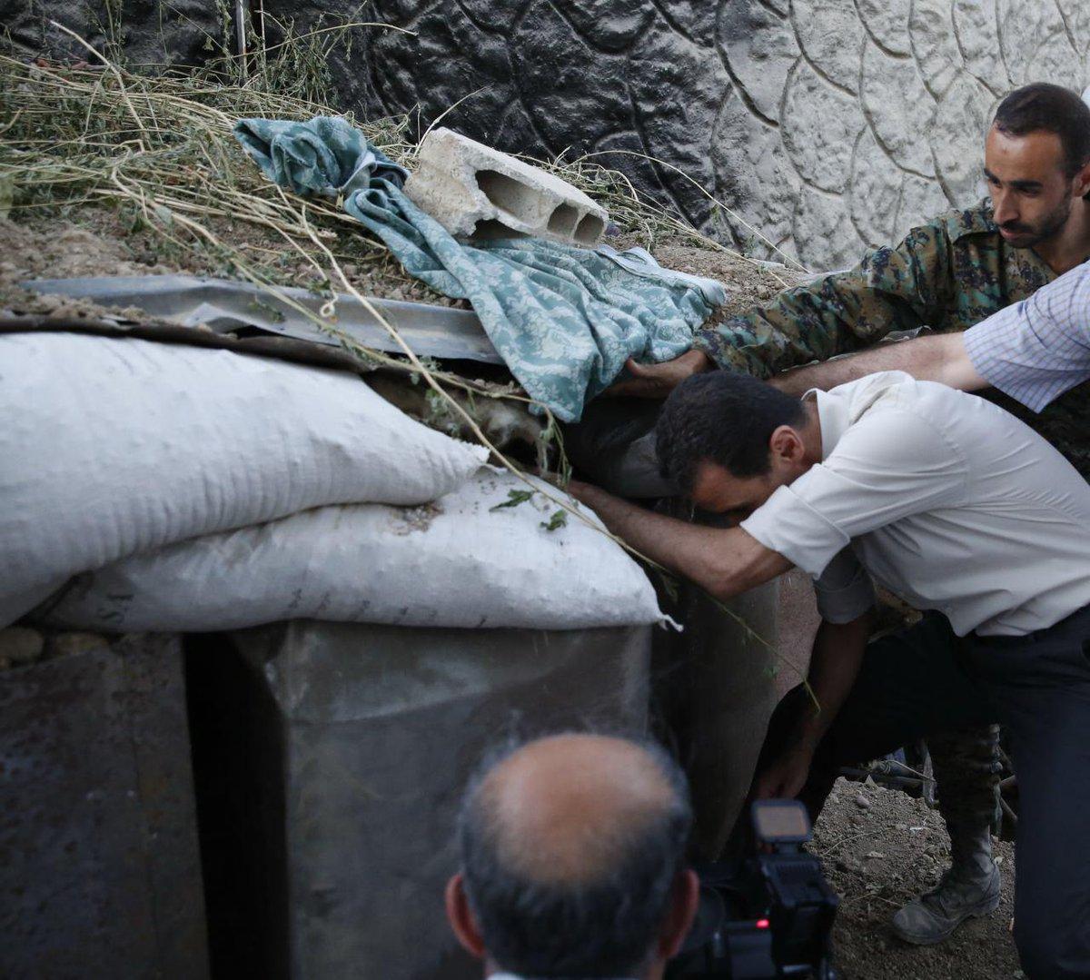 Besuch Assads an der Ost-Ghouta-Front