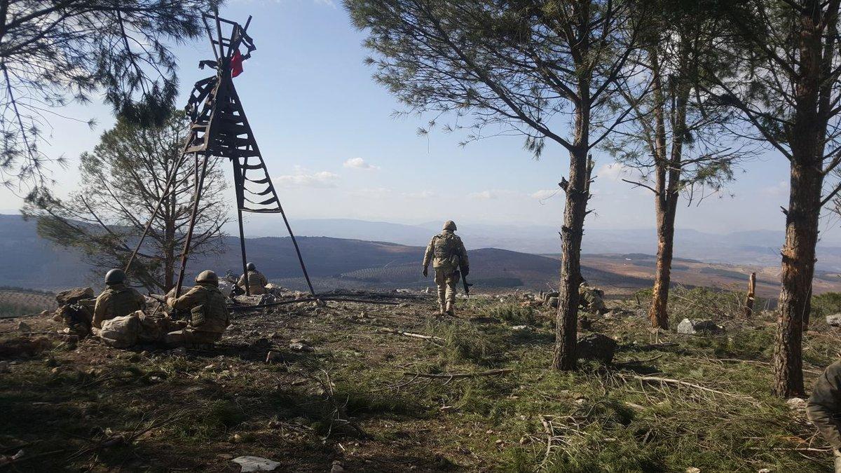 Türkische Armee erobert wichtigen Berg von den Kurden inAfrin